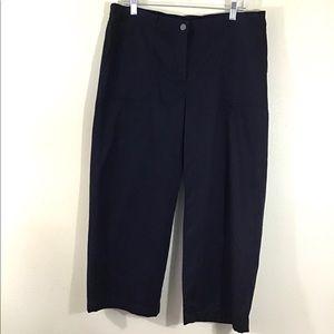 J. Jill Capri Pants Patch Pockets Black Size 14